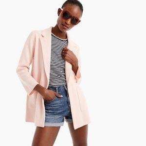 J.CREW Pink Open-front Cotton Wool Sweater Blazer